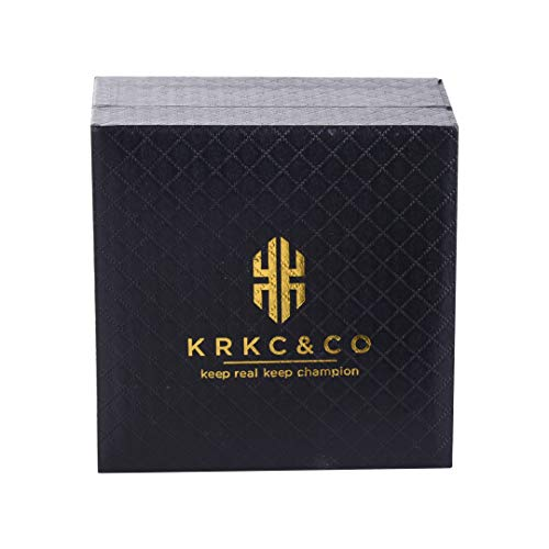 KRKC&CO ステンレス チェーンネックレス 金メッキ メンズ レディース Mボックス DL (28)
