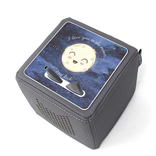 yabaduu Design Cover für Toniebox passgenau selbstklebend kindgerecht Folie Zubehör für Kinder Spielzeug Schutzfolie Y031 (Nr. 8 to The Moon)