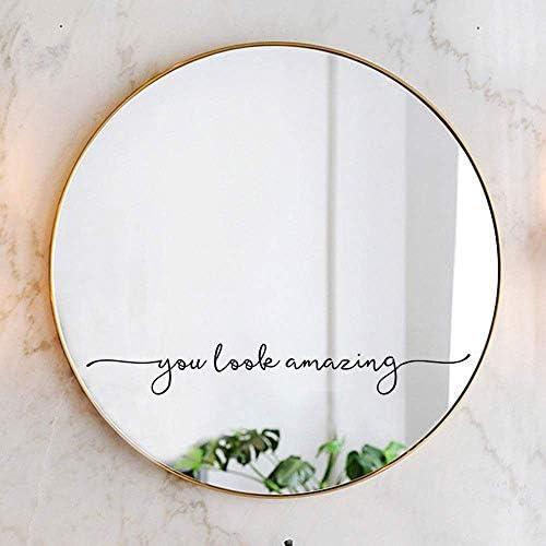 You Look Amazing Mirror Decal Vinyl Decal Bathroom Decor Shower Door Decal 18x2 5 inch product image