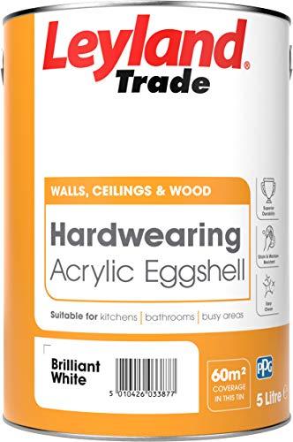 Leyland Trade 264369 Acryl-Eierschale, hochweiß, 5 Liter
