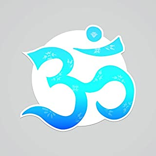 CMI PD245 2-Pack OM Symbol Blue Decal Sticker | 5.5-Inches by 5.2-Inches | Meditation Conciousness Religious Motivational Inspirational | Premium Quality Vinyl