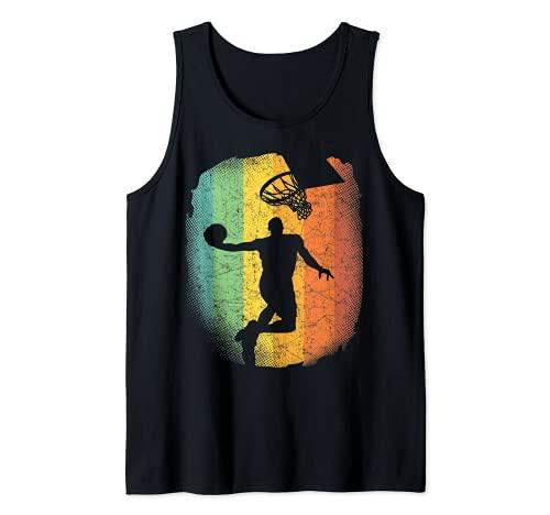 Pallacanestro Vintage grafico basket-giocatore regalo Canotta
