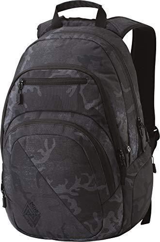 Nitro Stash Rucksack Schulrucksack Schoolbag Daypack Damenrucksack Schultasche schöne Rucksäcke Alltag Fahrradtasche, Forged Camo, 29L