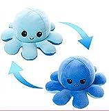YRWL Poulpe Peluche Reversible XXL,40 * 20 Cm (15,7 * 7,8 in) Reversible Octopus,Poulpe Peluche Reversible Geant(Bleu Clair Bleu Bleu,40 * 20cm)