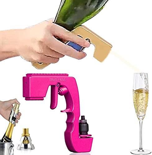 Flirt Pistole Flasche Champagner-Spritzpistole Champagner-Spritzpistole Kompatibel Mit Jedem Wein Champagner/Bier Flasche Für Hochzeitsfeier, Pool Beach Pink