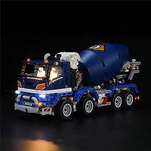 LIGHTAILING Conjunto de Luces (Technic Camión Hormigonera) Modelo de Construcción de Bloques - Kit de luz LED Compatible con Lego 42112 (NO Incluido en el Modelo)