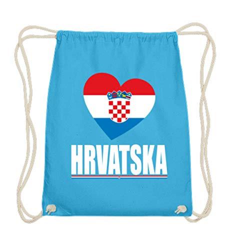 Hochwertige Baumwoll Gymsac - Kroatische Flagge T-Shirt Hrvatska Kroatien Fan Trikot Fussball Geschenk