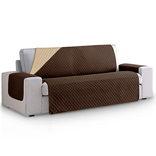 Vipalia Funda Cubre Sofa Acolchado Reversible Bicolor. Funda