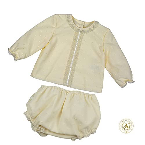 MI HIJA Y YO Conjunto Azalea Blusa y Cubre Pañal para Bebés - Hecho a Mano - Excelente