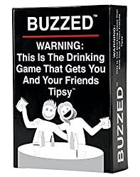 Buzzed This is The Drinking Game That Gets You and Your Friends Tipsy black board game box