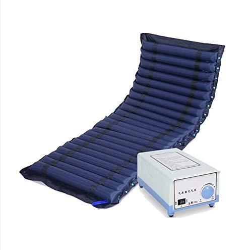 WLKQ Antidekubitusmatratze, Wechseldruckmatratze, PVC-aufblasbare für medizinisches Haus, enthält Elektrische Pumpe, Passt Standard Krankenhausbett