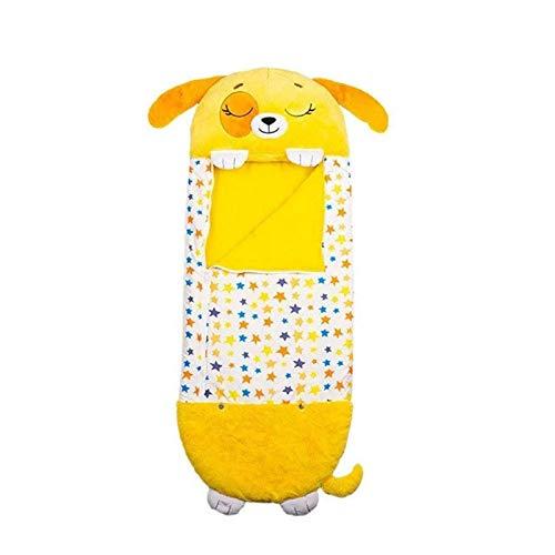 Kissen & Sleepy Sack, Bequemer, Superweicher, Warmer Und Ganzjähriger Schlafsack Mit Kissen - Cartoon Tierdecke - Nickerchen Kissen - Baumwolle Tierschlafsack Decke Für Kinder - 50×137cm