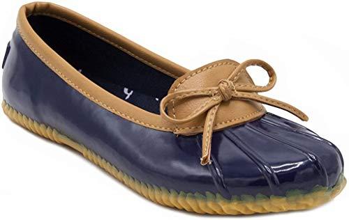 London Fog Womens Webster Rain Shoe Navy 7 M US