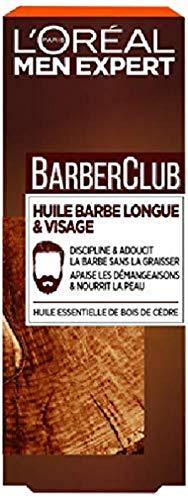 L Oréal Men Expert - BarberClub - Huile Barbe Longue et Visage Homme - À L Huile Essentielle de Bois de Cèdre - 30 ml