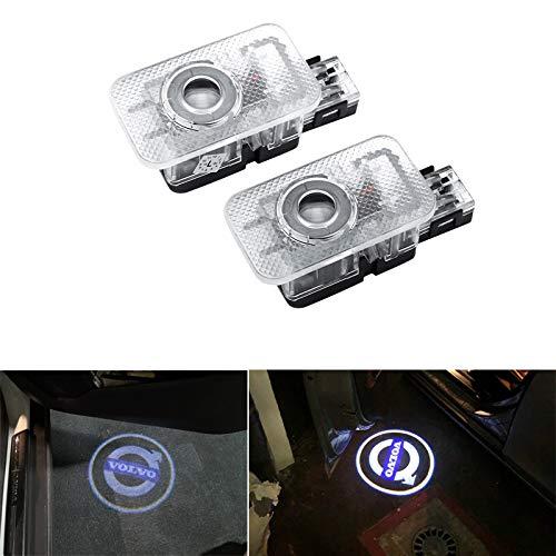 LED Vehículo Bienvenido Puerta De La Luz De Cortesía Logo Proyector De Luz Para Volvo V40 V60 S60 S80 XC60 XC90,Blanco