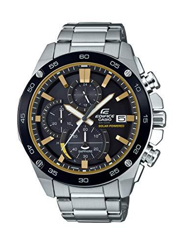 Casio Men's ' Edifice Quartz Stainless Steel Watch, Color:Silver-Toned (Model: EFS-S500DB-1BVCR