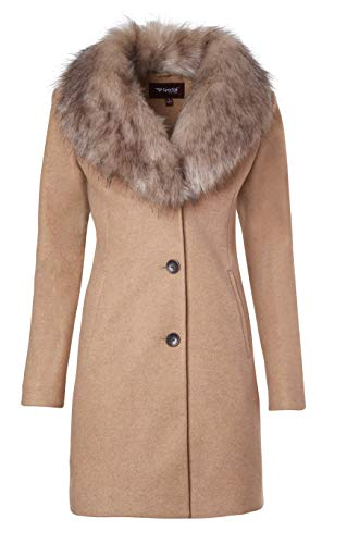 Women's Down Jackets with Hood - Thickened Winter Coats Warm Long Puffer Jacket Maxi Parka Outerwear Coat (Beige, Large)