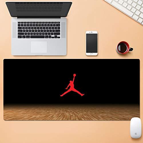 ZDVHM Extended Juego Cojín de ratón de la NBA de Baloncesto Warriors Curry Lakers Kobe Jordan Irving James Durant Grande Teclado Ratón Mat Impermeable Antideslizante Juego Mousepad for Home Office PC
