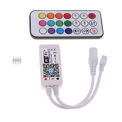 MagiDeal Mini Wifi Télécommande à 21 Touches Contrôleur pour Wifi/Bandes LED RGB/Musique MUSIC IR Décoration Pour Jardin Piscine et Réservoir - #1