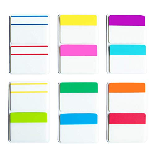 KIMCOME 2 Inch Sticky Tabs Index Tabs 240 Pieces, Colored Reading Tabs Self Adhesive, Arrow Flags Pages Markers for Binder, Books, File Folders and Notebook [12 Colors] Writable, Repositionable