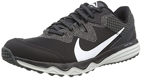 Nike Juniper Trail, Scarpe da Corsa Uomo, Black/White-Dk Smoke Grey-Grey Fog, 42.5 EU