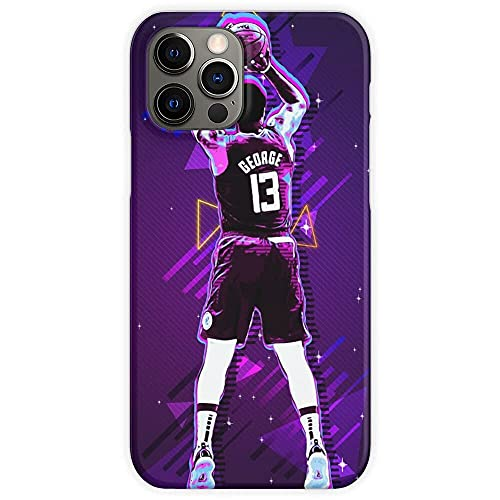 Cajas de teléfono Pure Clear George Paul Player Basketball Compatible con iPhone Samsung Xiaomi Redmi Note 10 Pro/Note 9/8/9A/Poco M3 Pro/Poco X3 Pro Funda Choque de caída