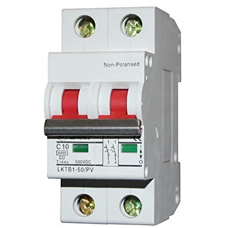 2p DC Mini-Trennschalter Uti 6KA DC500V MCB-Schalter DC-Controller Solar Photovoltaik Solar DC Leistungsschalter 2p_16A