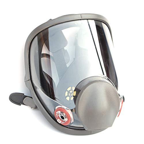 Maschera antigas a pieno facciale, in silicone, respiratore integrale per verniciatura a spruzzo