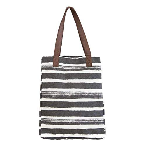 Stripe Charcoal Variations (Market Tote)