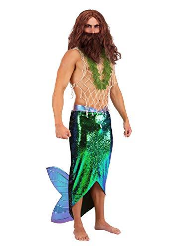 Salty Merman Costume for Men Adult Mermen Costume X-Large