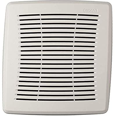 Economy Replacement Square Ceiling Bathroom Ventilation and Exhaust Fans, Easy DIY Installation, White Grille Cover