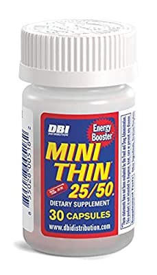 Mini Thin 25/50 | Dietary Supplement with Caffeine, BioPerine, Synephrine, Yohembe and Other Energy and Fat Burning Ingredients* - 30 Count Bottle