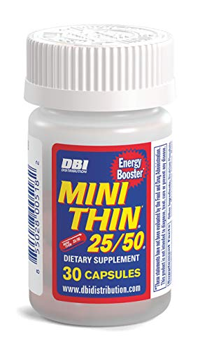 Mini Thin 25/50 | Weight Loss Supplement with Caffeine, BioPerine, Synephrine, Yohembe and Other Energy and Fat Burning Ingredients* - 30 Count Bottle