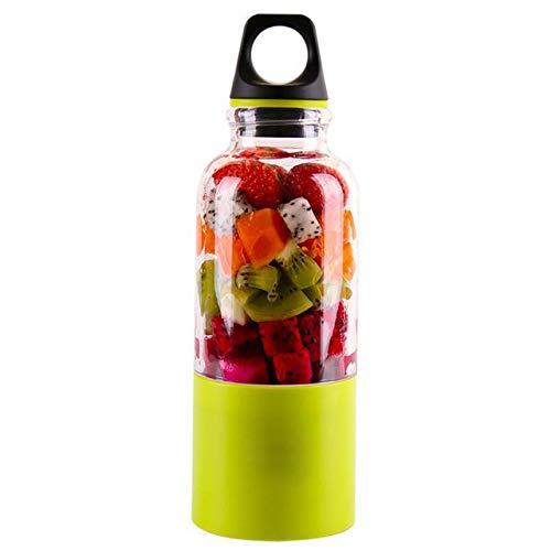 Mdsfe Mini Electric Juice Extractor USB Wiederaufladbare tragbare FruchtsaftpresseSmoothie Blender Cup Multifunktions-Saftpresse Maschine - grün, a1