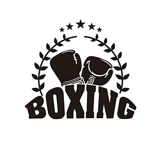 zxddzl Boxhandschuh Aufkleber Kick Boxer Spielen Auto Aufkleber Free Combat Poster Vinyl Striker Wandtattoos Parede Decor Boxing Sticker-112x100cm