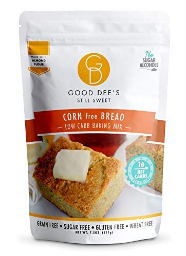 Good Dee's Corn Bread Baking Mix - Grain Free, Sugar Free, Gluten Free, Wheat Free, and Low Carb,7.5 Oz
