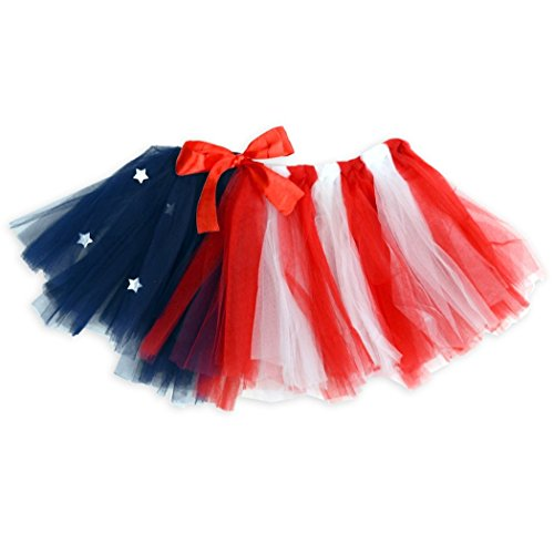 Gone For a Run Runners Premium Tutu Lightweight | One Size Fits Most | Colorful Running Skirts | American Flag
