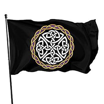 Irish Shield Warrior Celtic Cross Knot 3x5 FT American Flag Outdoor Banner Family Banner Garden Banner Black