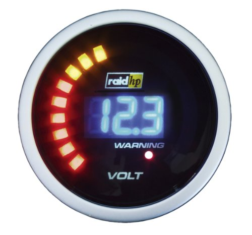 Raid HP 660504 Zusatzinstrument Voltmeter Serie Night Flight Digital Blue
