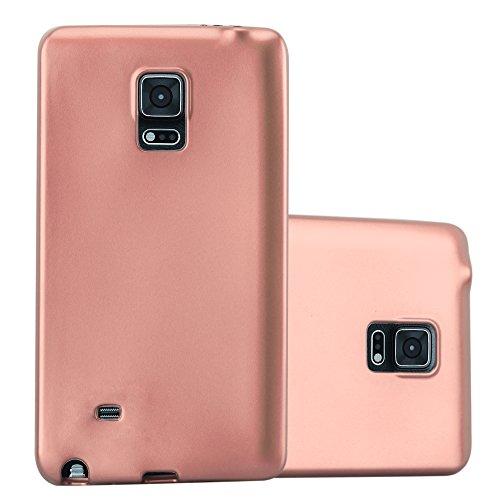 Cadorabo Hülle für Samsung Galaxy Note Edge - Hülle in METALLIC Rose Gold – Handyhülle aus TPU Silikon im Matt Metallic Design - Silikonhülle Schutzhülle Ultra Slim Soft Back Cover Case Bumper