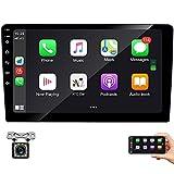 Radio Coche 2 DIN 9 Pulgadas Conexión Android Auto y Carplay, Bluetooth Reproductor Mp5 para Coche,con Mirrorlink, Carga Rápida, Cámara De Visión Trasera IR, Pantalla Táctil , Radio FM/ USB/AUX