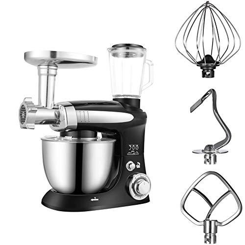 HOUADDY Profesional Robot De Cocina Multifuncional Potente De 1000W Batidoras Amasadoras 3...