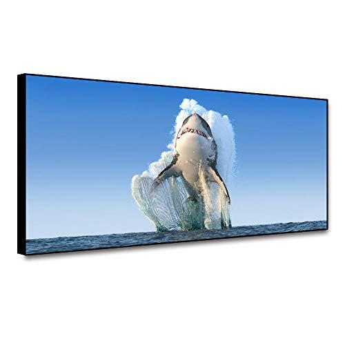 Shark Painting Classic Seestück Wandkunst Leinwand Nordic Decoration Home Poster und Drucke Wandbild für Wohnzimmer Home Decor 60x80cm Ungerahmt