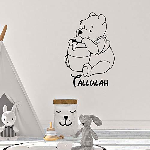 Winnie L'Ourson Sticker Winnie L'Ourson Nom Personnalisé Filles Garçons Enfants Bébé Pépinière Art Décor À La Maison autocollants pour les chambres d'enfants Affiche