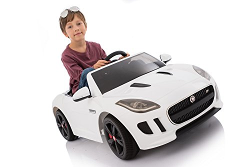 Jaguar Authorized Jaguar F-TYPE 12V Luxury Kids Ride On Car Battery Powered MP3 LED Door Open Kids Vehicle With Remote Control, Red