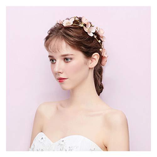 Guirnalda de Flores Novia Tocado Dulce Rosa niña de Flores Fiesta de