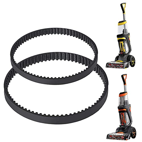 MEROM Replacement Belts Set Compatible with Bissell ProHeat 2X Revolution Pet Carpet Cleaner, Fits Models 1548, 1550, 1551, 15483, Replace Part Number #1606419 & 1606418 (2 Pack)