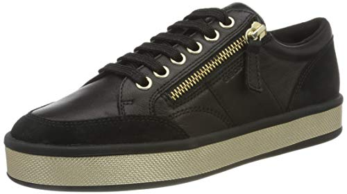 Geox Damen D Leelu' E Sneaker, Schwarz, 37 EU