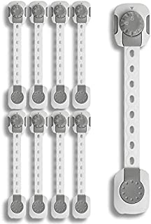 Child Safety Cabinet Locks Baby Proof – ABP SELLINGS – Pack of 8, 3M Adhesive, Baby Proof Cabinets, Drawers, Toilet Seat, ...