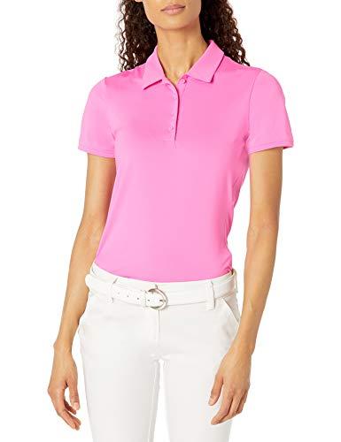adidas Golf Women's Ultimate365 Primegreen Short Sleeve Polo Shirt, Pink, Extra Large